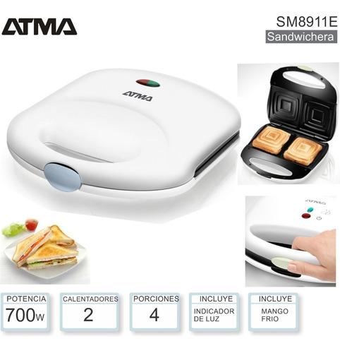 sandwichera atma 8911e con superficie anti-adherente