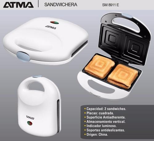 sandwichera atma sm8911 dual antiadherente garantia 750w m m