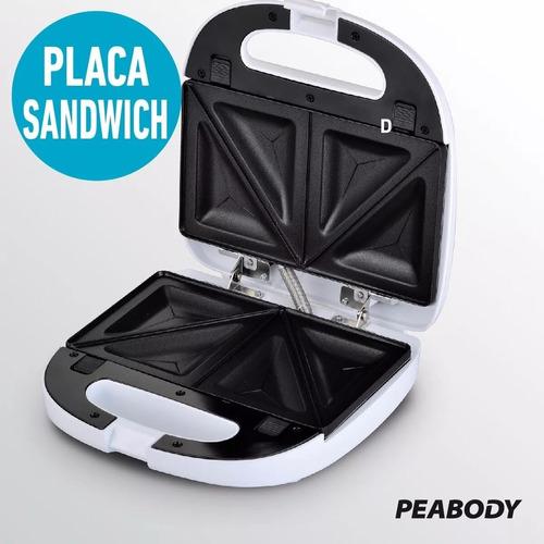 sandwichera waflera 5 en 1 peabody plancha grill omelette