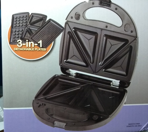 sandwichera waflera grill 3 en 1 placas intercam daewoo 750w