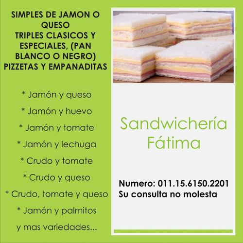 sandwicheria fatima. promo 50 triples $750