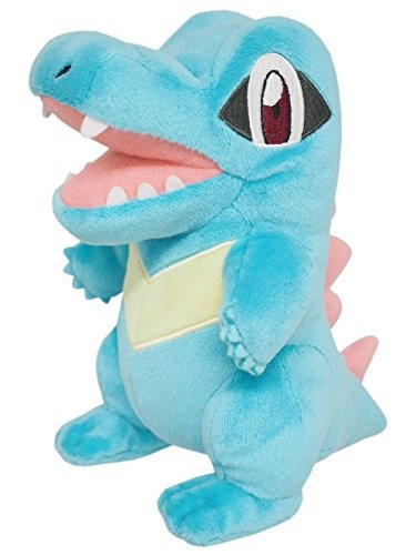 sanei pokemon all star collection - pp42 - totodile peluche