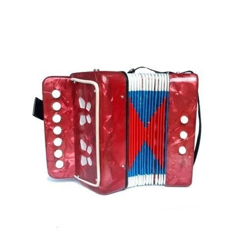 sanfona infantil semi profissional 3 baixos - acordeon