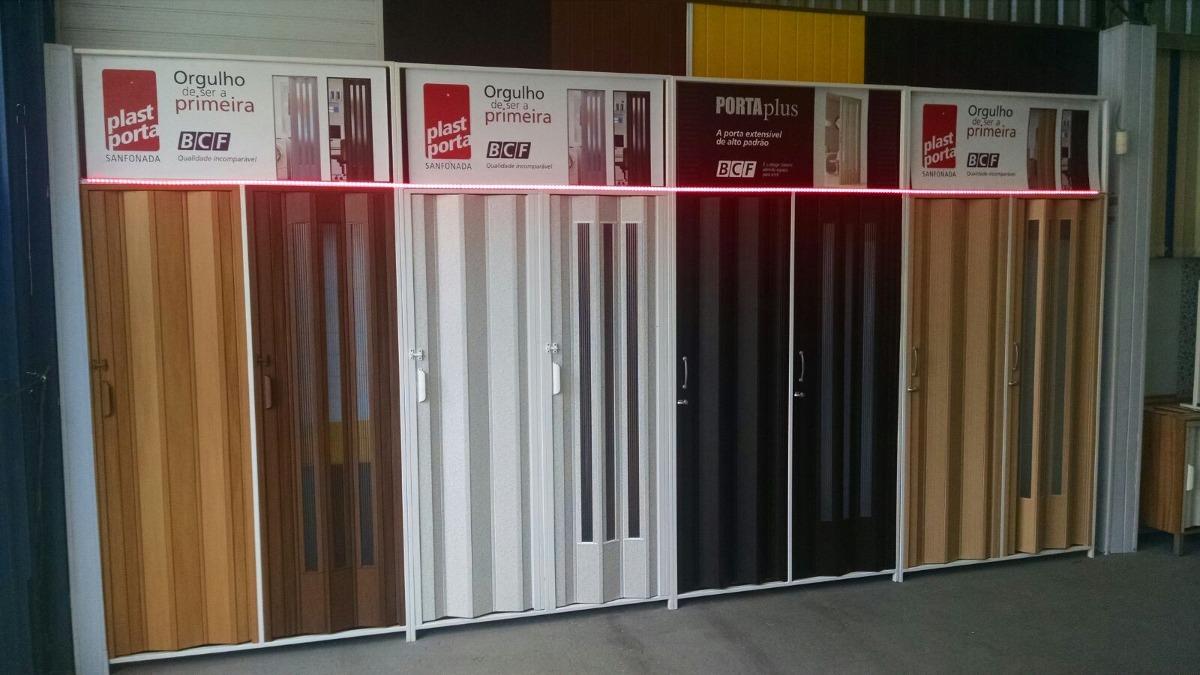Porta sanfonada pvc lisa 1 20 x 2 10 cinza branca for Porta 1 20