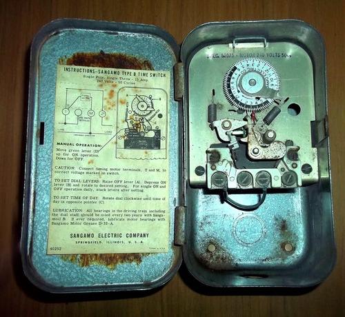 sangamo type b time switch  antiguo temporizador made in usa