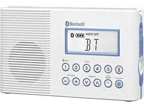 sangean h202 am-fm-weather, radio de ducha a prueba de agua
