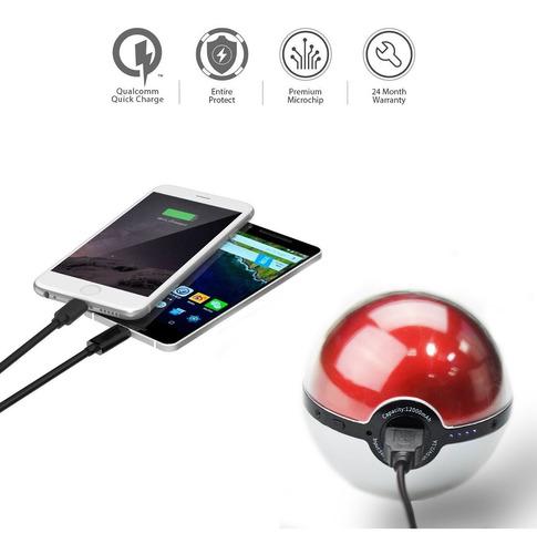 sanger pokemon poke ball con proyector power bank compatible