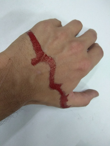 sangre blood maquillaje artificial fx muy real halloween