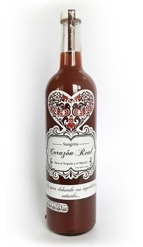 sangrita gourmet corazón real, 100% natural, tequila, mezcal