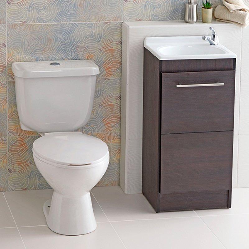 Combo sanitario campe n blanco con mueble de ba o wengue for Muebles para sanitarios