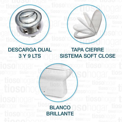 sanitarios minimalista cuadrados dioniso pringles tapa loza sitema soft close mochila de apoyo descarga dual inodoro