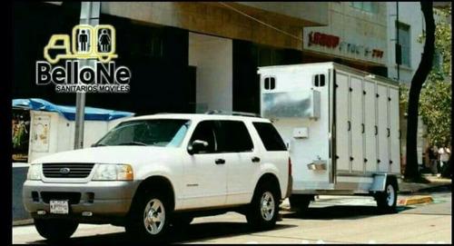 sanitarios móviles, wc, baños portátiles.