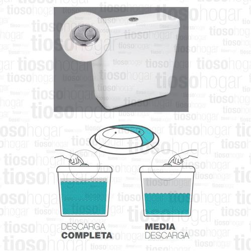 sanitarios pringles dioniso inodoro + mochila + tapa cierre suave reforzada