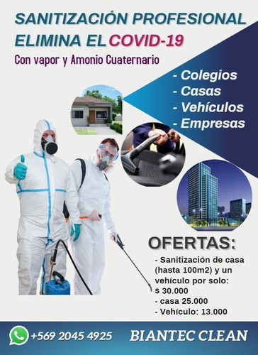 sanitiza tu casa y vehiculo