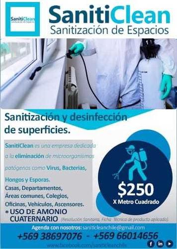 sanitización de ambientes