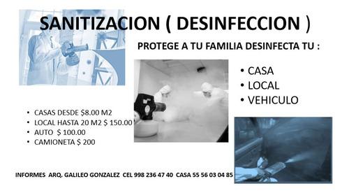 sanitización (desinfección). cdmx.