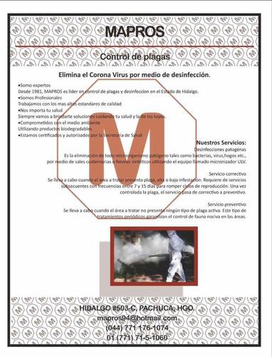 sanitizacion: eliminación de virus, hongos y bacterias