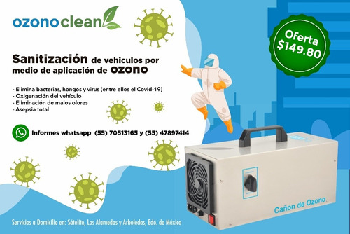 sanitización por medio de ozono
