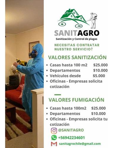 sanitización y control de plagas- sanitagro