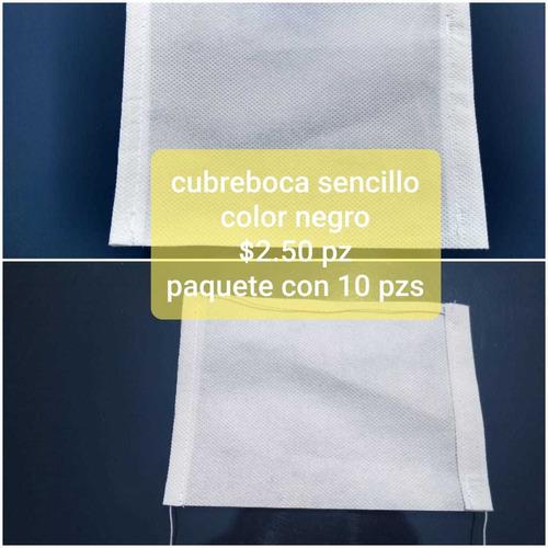 sanitización y cubrebocas