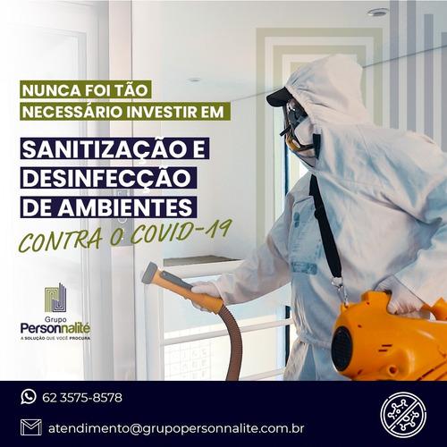 sanitização e desinfecção de ambiente e desinsetização