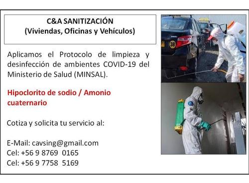 sanitizamos viviendas, vehículos, oficinas, comercio y más