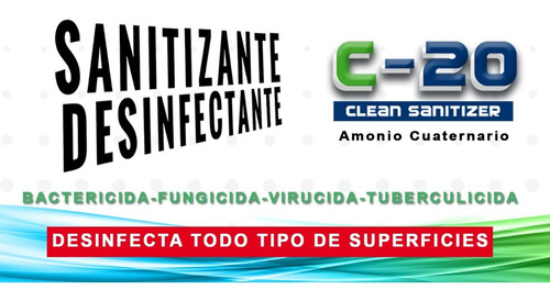 sanitizante desinfectante 100 %certificado