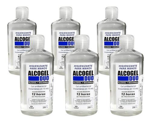 sanitizante manos alcohol gel biguanida x 6u unico valot