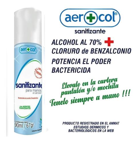 sanitizante para manos 90 ml aerosol x 1 - ciudad cotillón