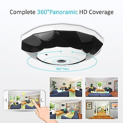 sannce wirless panoramic camera 960p 360 ° fisheye gran angu