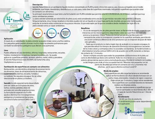 sanntik sanitizante plata coloidal bactericida 4pzas