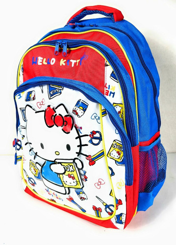 sanrio - mochila 16  hello kitty school