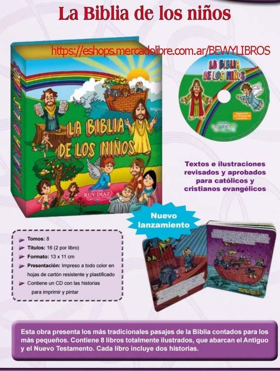 Santa Biblia Para Ninos 8 Libros 16 Historias Ruy Diaz 3 299