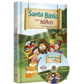 Santa Biblia Para Niños Ilustrada · Evangélica + Cd