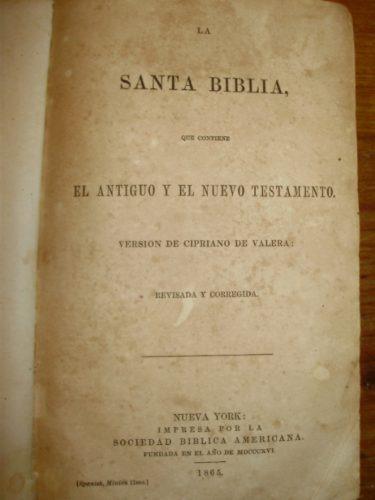 santa biblia sociedad biblica americana nueva york 1865 1a e