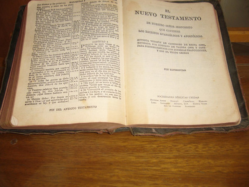 santa biblia - versión reina - valera con referencias- 1952