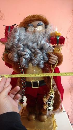 santa claus musical 56 cms luz fibra optica, navidad