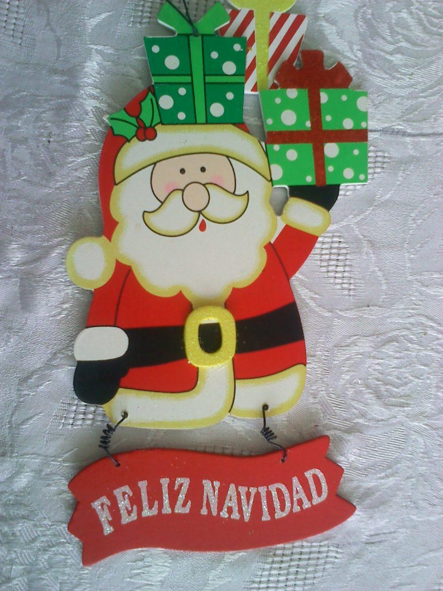 Santa claus nicol s mdf aprox 28cm decoracion navidad for Articulos de decoracion para navidad