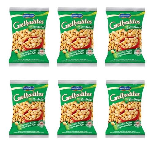 santa helena grelhaditos amendoim natural 1,05kg (kit c/06)