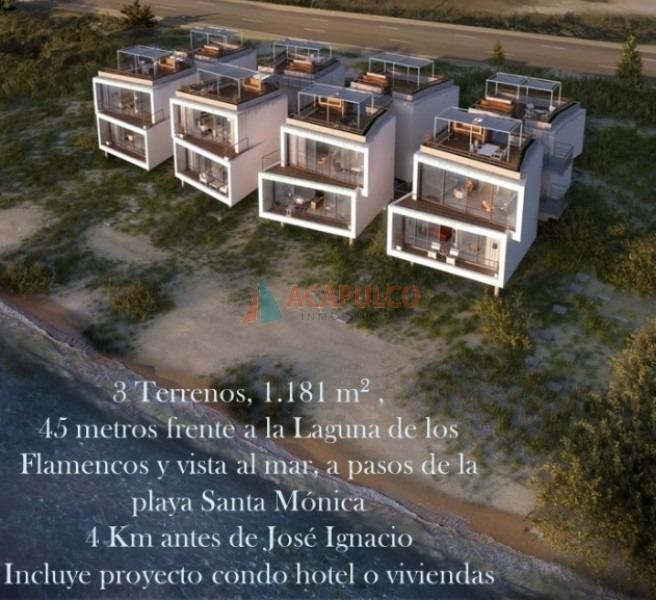 santa monica 3 terrenos unificados. vista al mar y a laguna de los flamencos-ref:2842