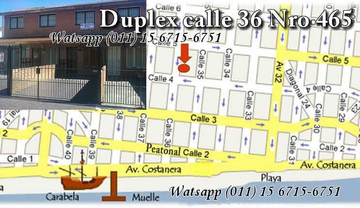 santa teresita duplex centro 4 a 8 pers. wifi,cable,cochera