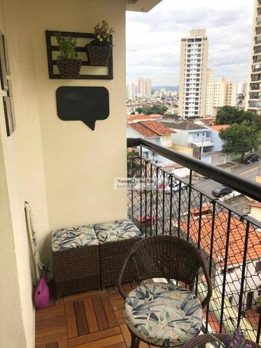 santa terezinha -zn/sp - apartamento 3 dormitórios,1suíte,2 vagas - r$ 615.000,00 - ap7159