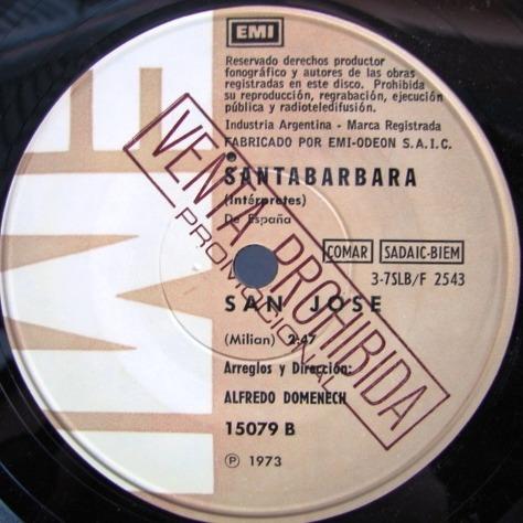 santabarbara - charly - simple promo año 1973