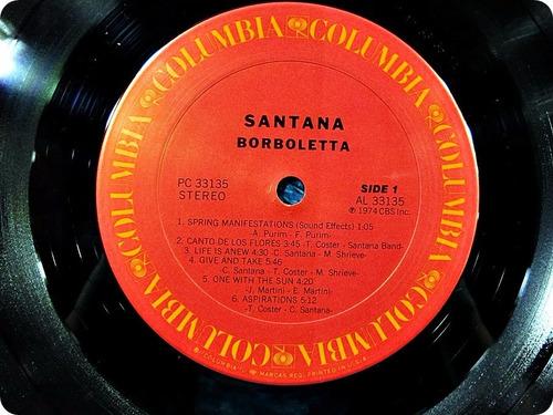 santana. borboletta. vinil importado japan.obi.ano 1974.