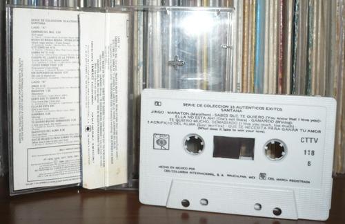 santana cassette 15 autenticos exitos