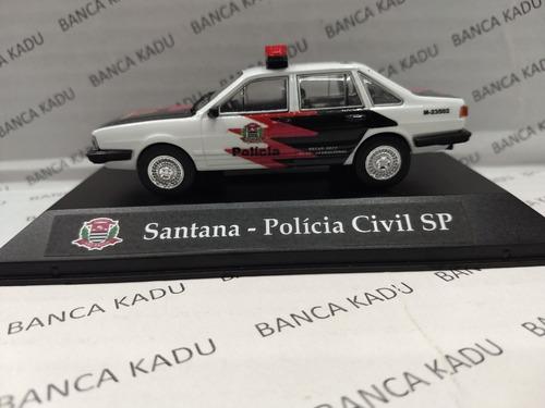 santana da polícia civil são paulo escala 1/43 customizada
