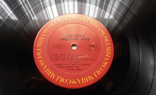santana - greatest hits ( l p ed. u s a 1985?)