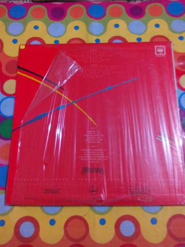 santana lp zebop! 1981 con incer. disco en excelente estado.