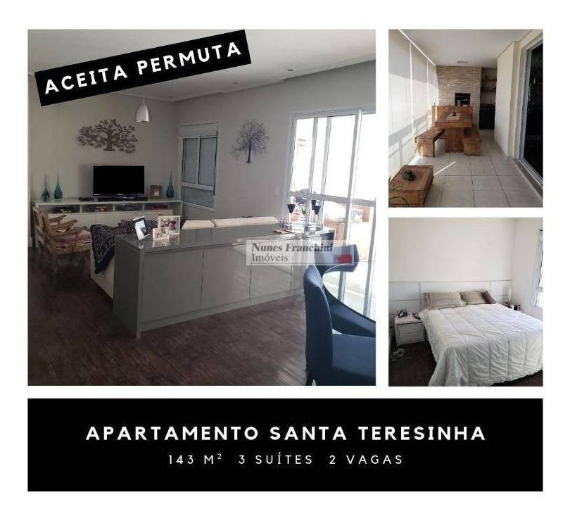 santana zn/sp - apartamento, 143m², 3 suítes, 2 vagas - r$1.490.000,00 - ap7256