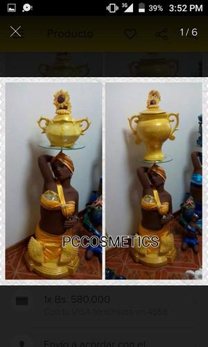 santeria, base pedestal para soperas oya yemaya oshun